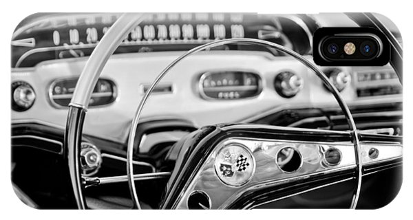 1958 iPhone Case - 1958 Chevrolet Impala Steering Wheel by Jill Reger