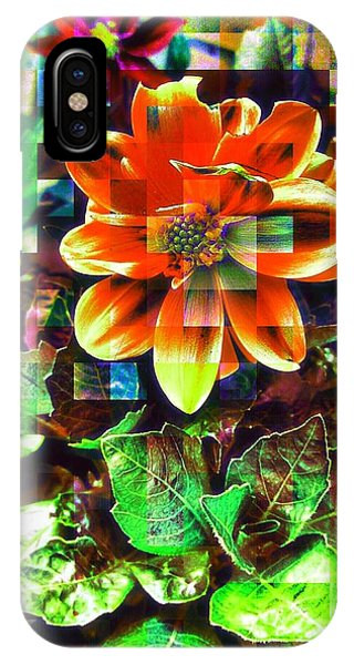Edit iPhone Case - Abstract Flowers by Chris Drake