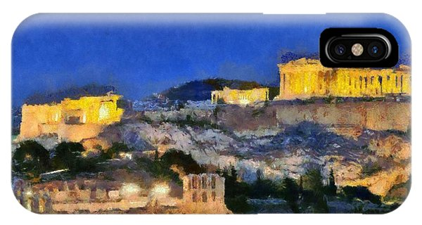 Acropolis Of Athens During Dusk Time IPhone Case