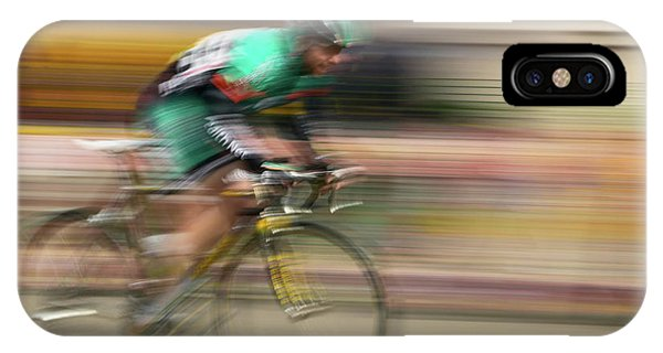 Achievement iPhone Case - Amateur Men Bicyclists Competing by Panoramic Images