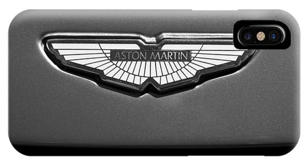 Martin iPhone Case - Aston Martin Emblem by Jill Reger