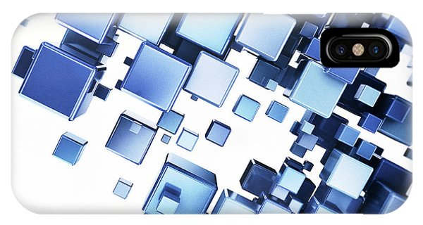 iPhone Case - Blue Cubes by Jesper Klausen / Science Photo Library