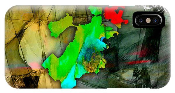 Boston Map Watercolor IPhone Case