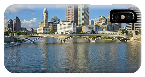 Fx1l-802 Columbus Ohio Skyline Photo IPhone Case