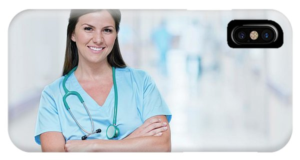 Female Doctor Smiling Towards Camera Phone Case by Science Photo Library