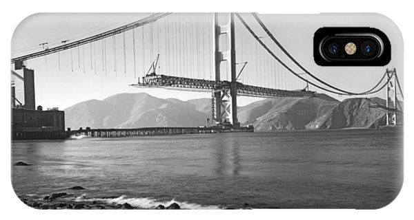 California iPhone Case - Golden Gate Bridge by Underwood Archives