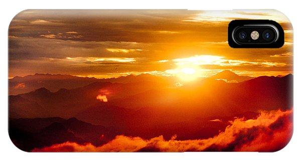 Golden Sunset Himalayas Mountain Nepal IPhone Case