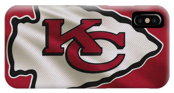 Iphone 4 iPhone Case - Kansas City Chiefs Uniform by Joe Hamilton