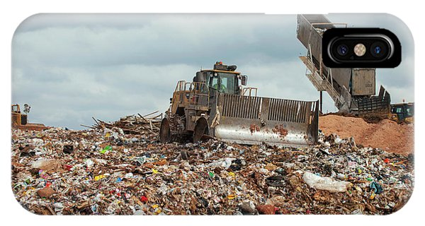 Rubbish Bin iPhone Case - Landfill Waste Disposal Site by Peter Menzel