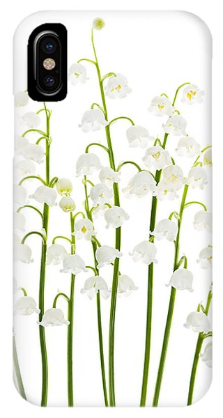 Floral iPhone Case - Lily-of-the-valley Flowers  by Elena Elisseeva