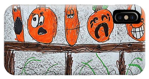 5 Little Pumpkins IPhone Case