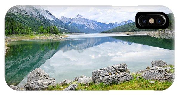 Rocky Mountain iPhone Case - Mountain Lake In Jasper National Park by Elena Elisseeva