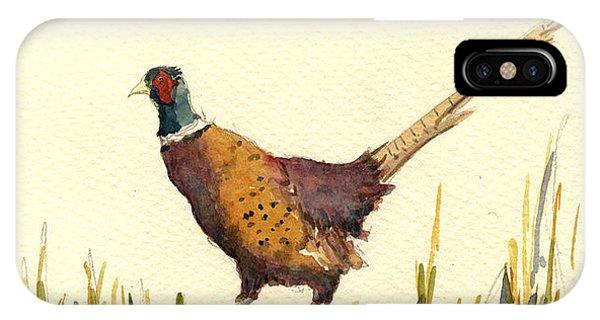 Hunt iPhone Case - Pheasant by Juan  Bosco