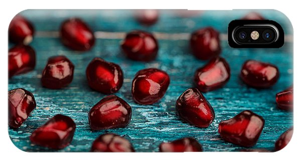 Red iPhone X Case - Pomegranate by Nailia Schwarz