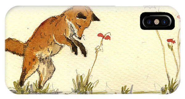 Nice iPhone Case - Red Fox by Juan  Bosco