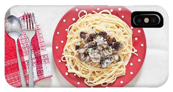 Menu iPhone Case - Sardines And Spaghetti by Tom Gowanlock