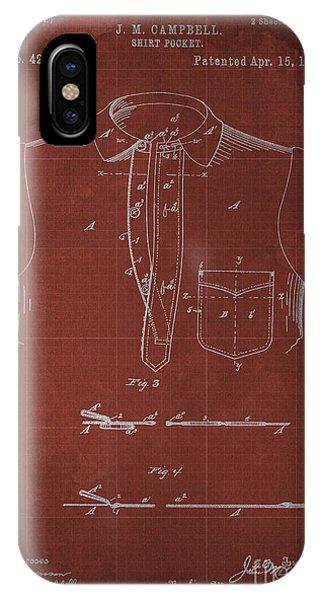 Shirt Pocket Blueprint Patent Phone Case by Pablo Franchi