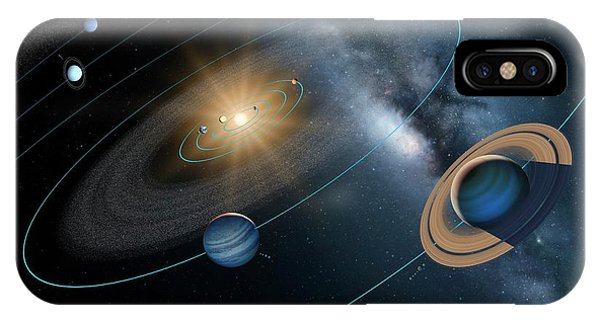 Astrophysical iPhone Case - Solar System by Detlev Van Ravenswaay