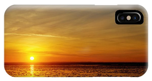 IPhone Case featuring the photograph Sunset At Cheyenne Bottoms by Rob Graham