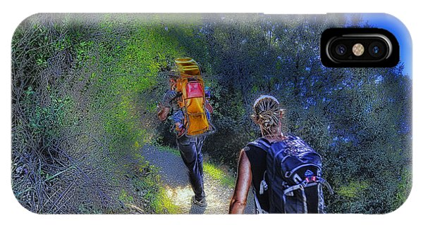 IPhone Case featuring the mixed media 5 Terre Monterosso Trekking In Passeggiate A Levante by Enrico Pelos