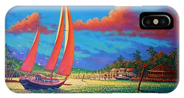 Moonlight Harbor IPhone Case