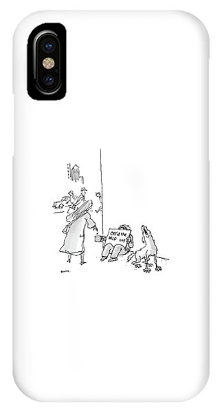 Poor iPhone Case - New Yorker September 12th, 2005 by George Booth