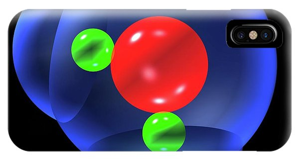 Water Molecule Phone Case by Russell Kightley