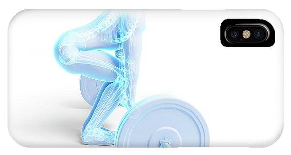 Weight Training Posture Phone Case by Sebastian Kaulitzki