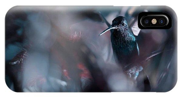 Hummingbirds iPhone Case - 50 Hz by Fabien Bravin