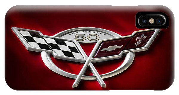 Chevrolet iPhone Case - 50th Anniversary by Douglas Pittman