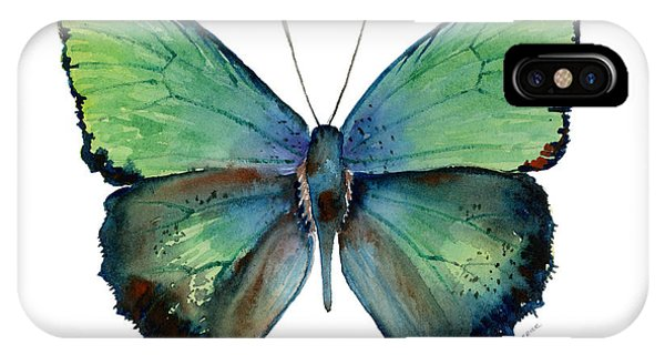 Moth iPhone Case - 52 Arhopala Aurea Butterfly by Amy Kirkpatrick