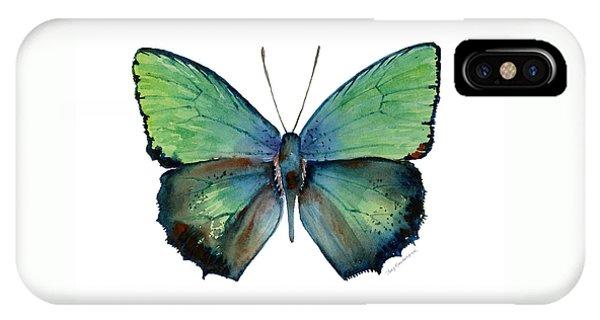52 Arhopala Aurea Butterfly IPhone Case