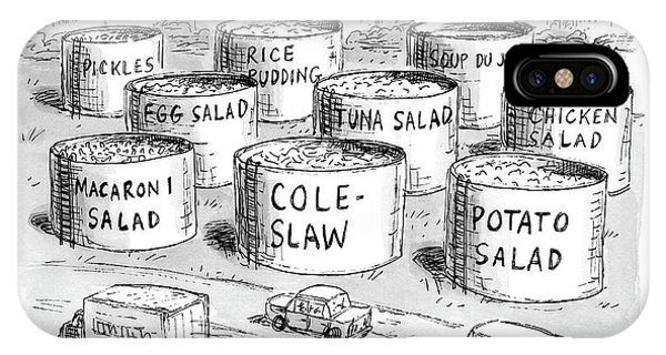 Highway iPhone Case - The Coffee Shop Vats Of New Jersey by Roz Chast