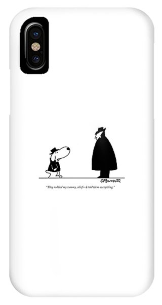 iPhone Case - They Rubbed My Tummy by Charles Barsotti