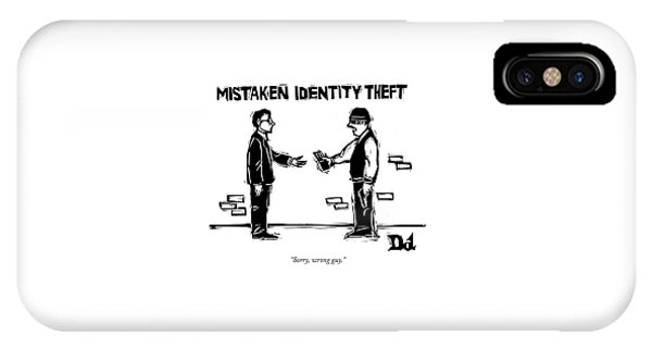 Mistaken Identity Theft IPhone Case