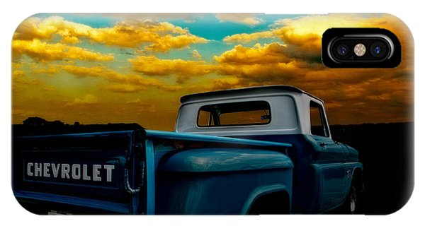 56 Chevy Truck And The Lake Canyon Sunset IPhone Case