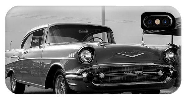 57 Chevy Bel-aire In Bw Phone Case by Don Durante Jr