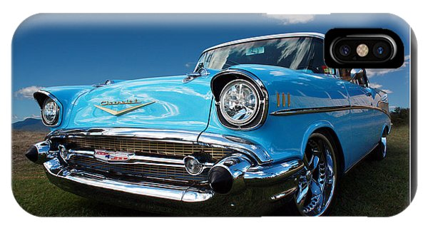 57 Chevy Sedan Phone Case by Keith Hawley