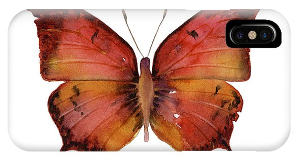 Moth iPhone Case - 58 Andria Butterfly by Amy Kirkpatrick