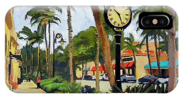 Avenue iPhone Case - 5th Avenue Naples Florida by Christine Hopkins