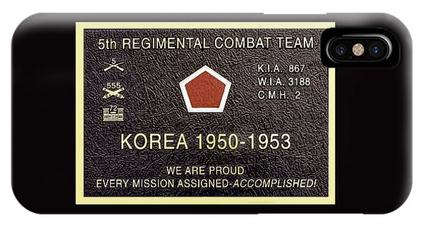 5th Regimental Combat Team Arlington Cemetary Memorial IPhone Case