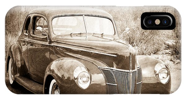 Coupe iPhone Case - 1940 Ford Deluxe Coupe by Jill Reger