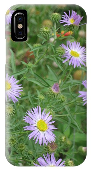 6 Asters Left IPhone Case