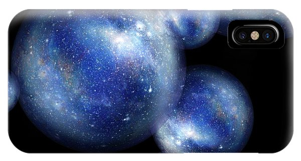 Astrophysical iPhone Case - Bubble Universes by Detlev Van Ravenswaay