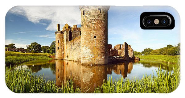 Castle iPhone X / XS Case - Caerlaverock Castle by Grant Glendinning
