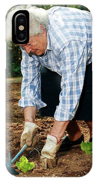 Elderly Lady Gardening Phone Case by Mauro Fermariello/science Photo Library