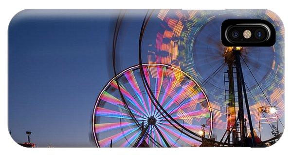Evergreen State Fair With Ferris Wheel IPhone Case