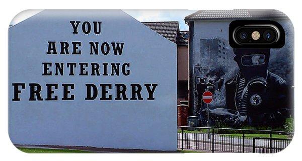 Free Derry Corner 3 IPhone Case