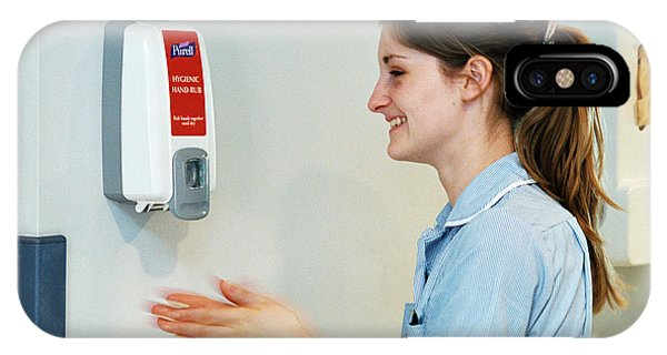 Dispenser iPhone Case - Hospital Hygiene by Mark Thomas/science Photo Library