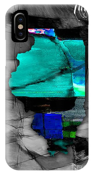 Illinois Map Watercolor IPhone Case